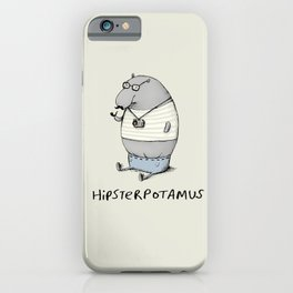 Hipsterpotamus iPhone Case