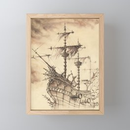 Haunted Ship Framed Mini Art Print