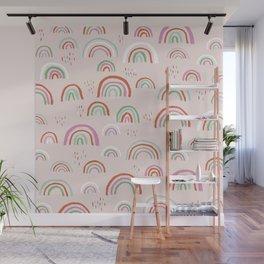 Colorful rainbows magic dreams kawaii sky kids Wall Mural