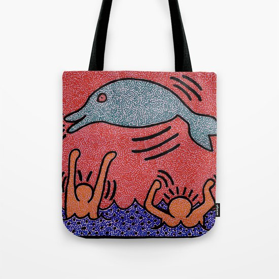 Keith Haring Dolphin by earlgreyart