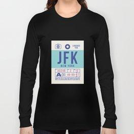 Baggage Tag B - JFK New York John F. Kennedy USA Long Sleeve T-shirt