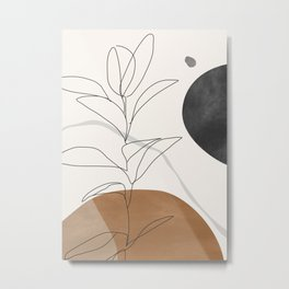 Abstract Art /Minimal Plant Metal Print