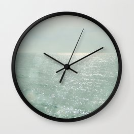 The Silver Sea Wall Clock