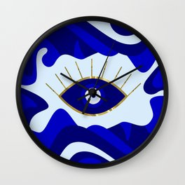 Lava All Seeing Evil Eye Wall Clock