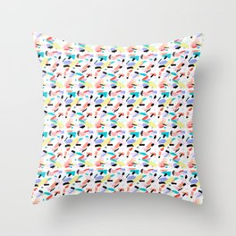 Brushtrokes from the 80s Throw Pillow