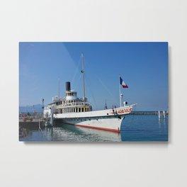 Steam Boat, Lake Geneva Metal Print