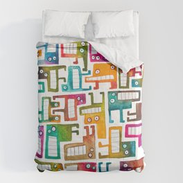 Tetris Monsters Comforters