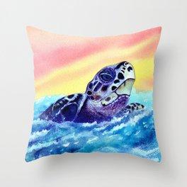 Open Seas  Throw Pillow