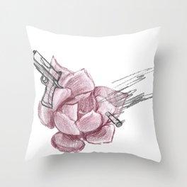 Hardcore Succulent Throw Pillow