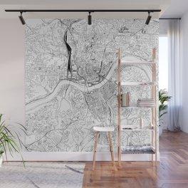 Cincinnati White Map Wall Mural