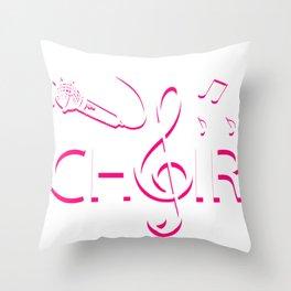 Chor Singen Sänger Musik Ensemble Gesang Band Throw Pillow