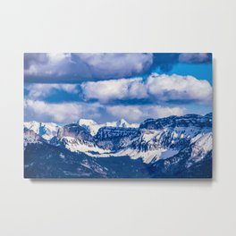 Embraced by the Mountains Metal Print