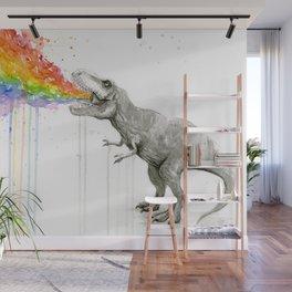 T-Rex Rainbow Puke Wall Mural