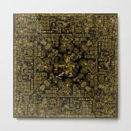 Mayan Spring GOLD Metal Print