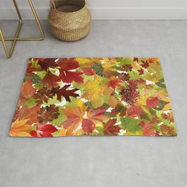 Autumn Fall Leaves Rug