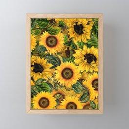 Vintage & Shabby Chic - Noon Sunflowers Garden Framed Mini Art Print