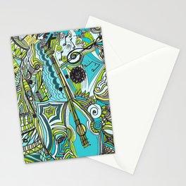 Musically Aqua Stationery Cards