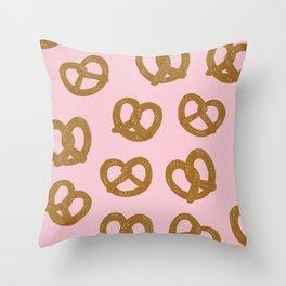 Pretzel Pattern – Blush Throw Pillow
