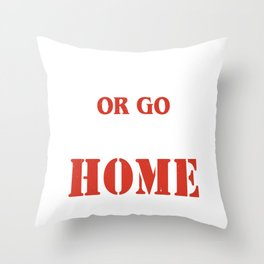 Go Heavy Or Go Home l Fitness Workout Gym Lifting graphic Throw Pillow