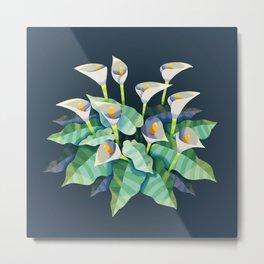 Arum Lilies Metal Print