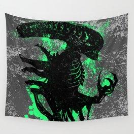 Alien Acid Green Wall Tapestry
