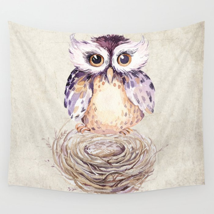 Owl 3 Wall Tapestry