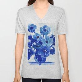 blue stillife Unisex V-Neck