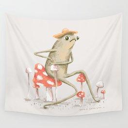 Awkward Toad Wall Tapestry