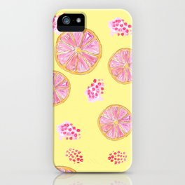 fruit infusion pattern iPhone Case