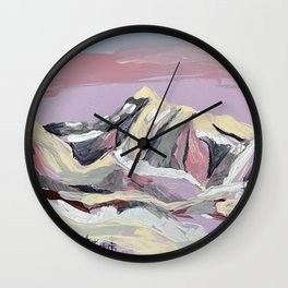 Purple Mountain Wall Clock