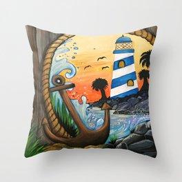 Light House View Throw Pillow
