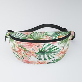 Tropical Jungle Hibiscus Flowers - Floral Fanny Pack