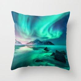 Aurora Borealis 5 Throw Pillow