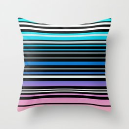 Simple striped pattern, simple, striped Throw Pillow