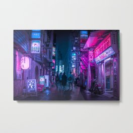 Neo Future Tokyo Cyberpunk Metal Print
