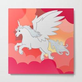 Alicorn at Sunset Metal Print