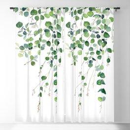 Eucalyptus Watercolor Blackout Curtain
