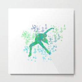Figure Skater  Watercolor Design Style 2 Metal Print