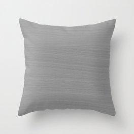 Soft Light Grey Brushstroke Texture Throw Pillow