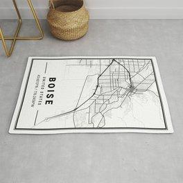 Boise Light City Map Rug