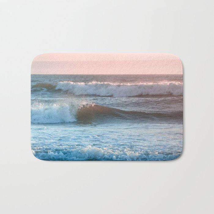 Beach Adventure Summer Waves at Sunset Bath Mat