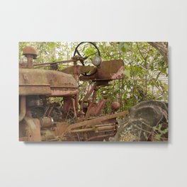 Abandoned Tractor Metal Print