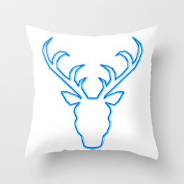 Ice Stag Throw Pillow