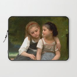 """William-Adolphe Bouguereau """"Fishing For Frogs"""" Laptop Sleeve"""