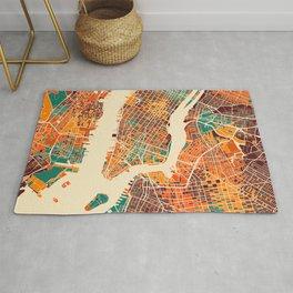 New York Mosaic Map #2 Rug