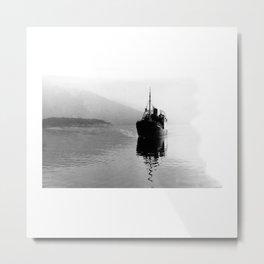 Fjord ship Metal Print