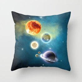 New Solar System Throw Pillow