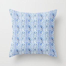 Kahala Flower Chambray Throw Pillow