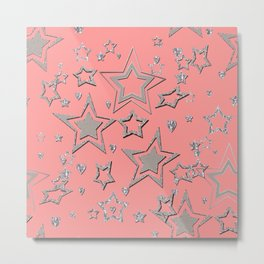 Holiday decor, shiny stars Metal Print