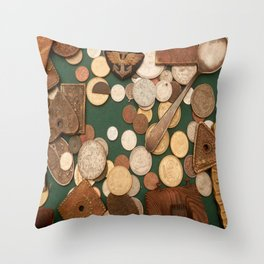 old coins Throw Pillow